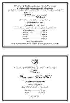 traditional muslim wedding card wordings images