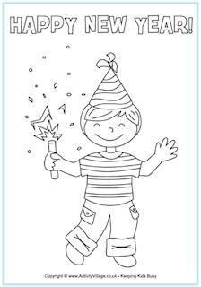 new year 731 | new year colouring pages av2