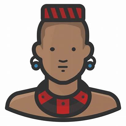 Icon African Traditional Avatars Diversity Icons Sizes