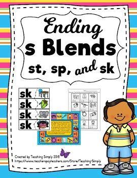 blends activities  endings sp sk st  teaching