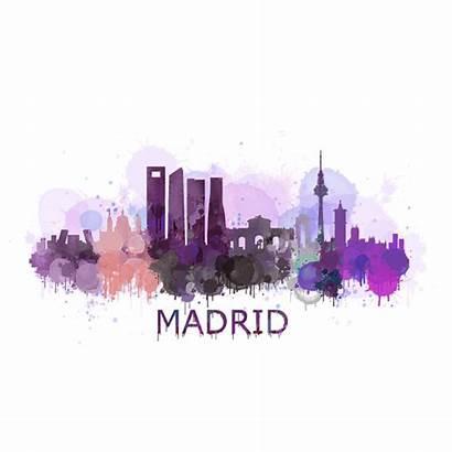 Madrid Transparent Skyline Hq Iphone Spain Boundary