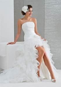 Robe Courte Mariée : robe de mari e courte devant robe de mari e cascade de drap s en taffetas robe de mari e ~ Melissatoandfro.com Idées de Décoration