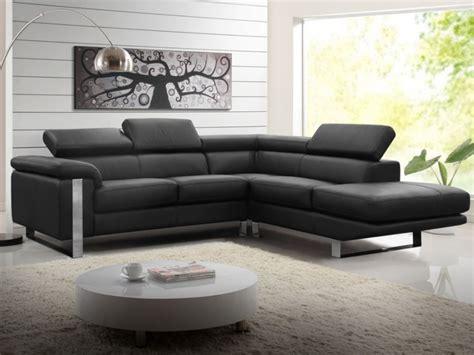 un canape canapé d 39 angle en cuir de vachette 4 coloris mystique