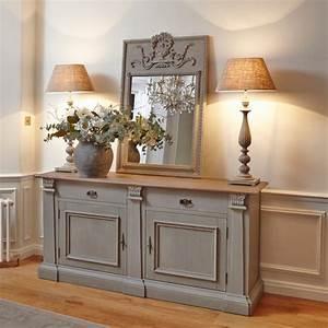 Sideboards Italienisches Design : distressed grey sideboard with oak top furniture la maison chic luxury interiors ~ Markanthonyermac.com Haus und Dekorationen