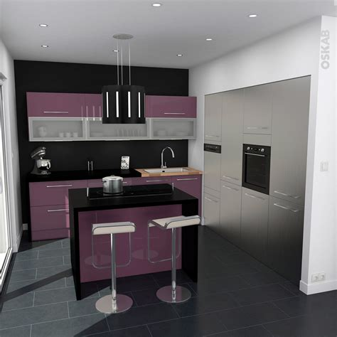 cuisine ambiance idee couleur cuisine ouverte 4 cuisine aubergine et