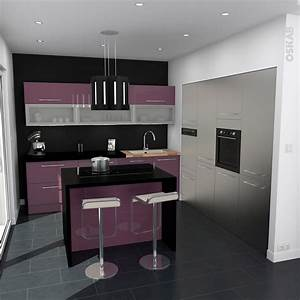 Cuisine Couleur Aubergine : cuisine aubergine mod le keria aubergine brillant ~ Premium-room.com Idées de Décoration