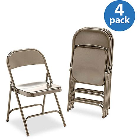 Folding Lawn Chairs Walmart by Set Of 4 Virco Metal Folding Chairs Bronze Walmart
