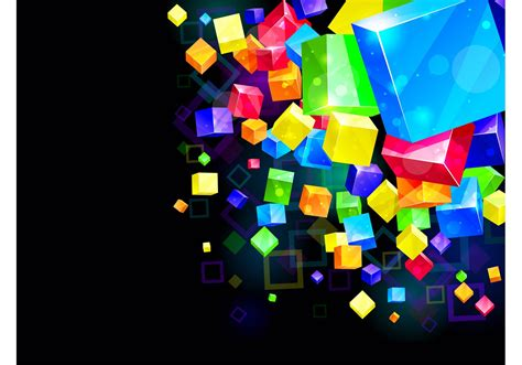 Cube Background Colorful Cubes Background Free Vector