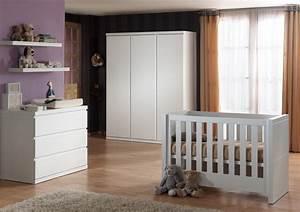 Babybett Und Wickelkommode Set : babyzimmer set lara babybett wickelkommode wei kids ~ Lateststills.com Haus und Dekorationen