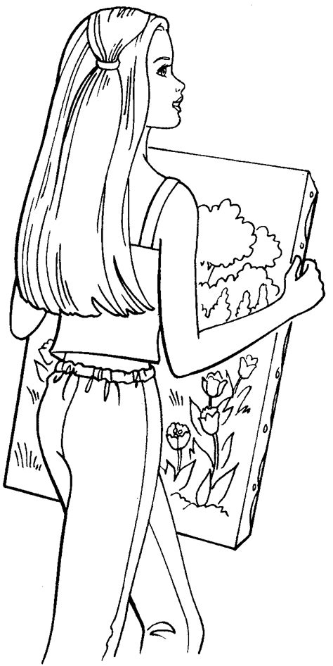 barbie coloring pages barbie coloring picture