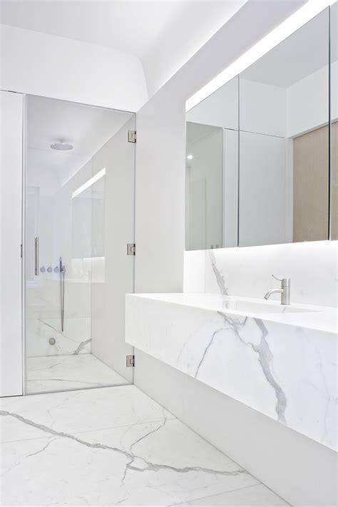white calacatta marble bathroom interior templer