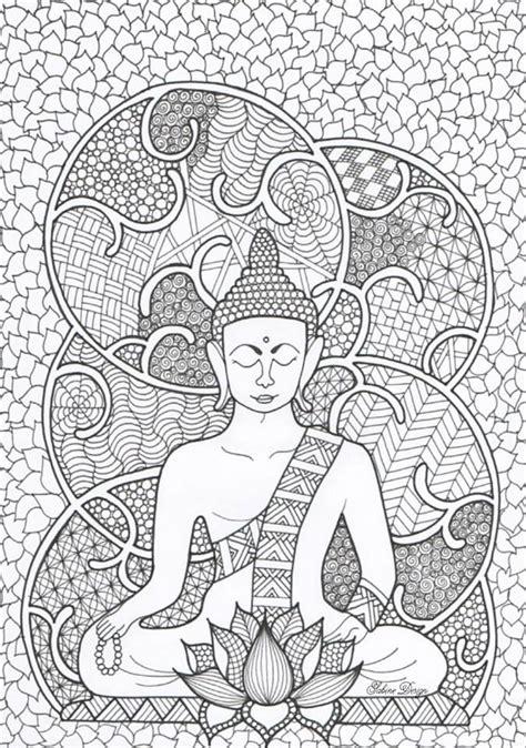 boeddha boeddha pinterest buddha adult coloring