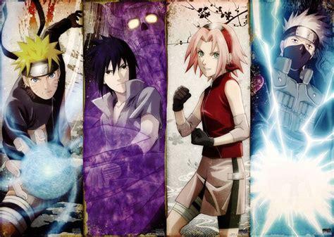 Naruto Shippuden Poster Anime Kakashi Team 7 Art Silk Wall