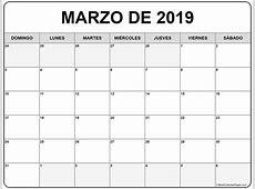 marzo de 2019 calendario gratis Calendario de