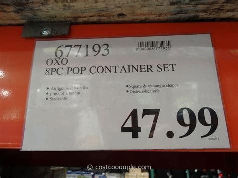 Oxo 8 Piece Pop Container Set