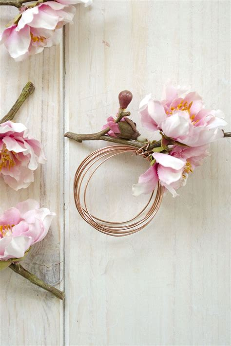 diy floral and copper napkin rings tea party ideas diy