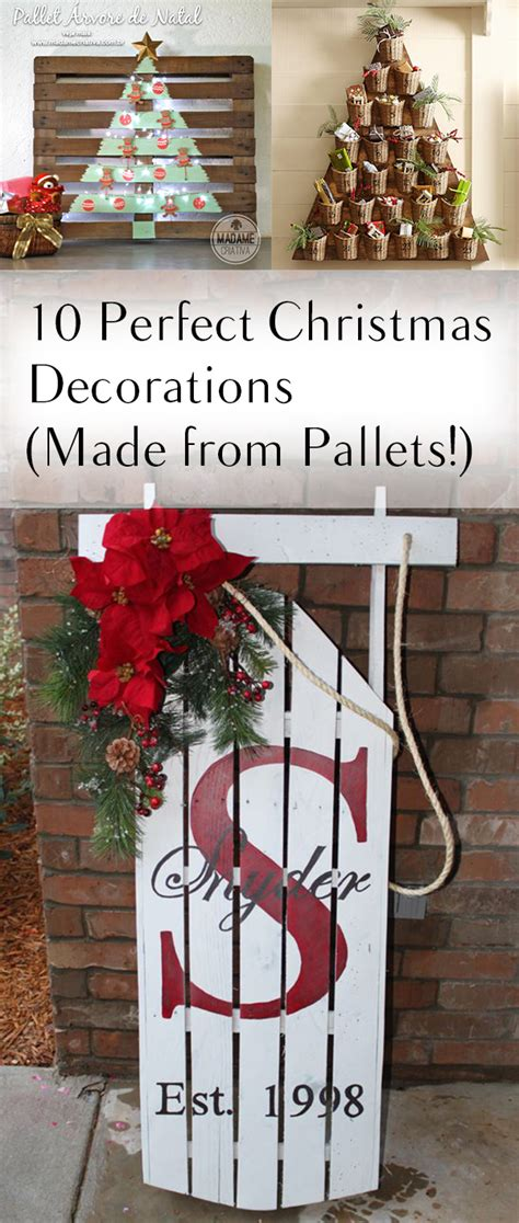 perfect christmas decorations   pallets