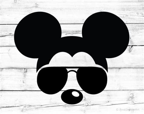 That's why i made this cute summer. Mickey Mouse Svg Disney Svg Sunglasses Svg Aviators Svg | Etsy