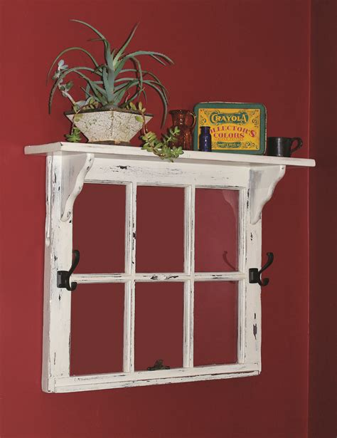 Decorating Ideas Using Window Frames by This Window Frame Topped By A Shelf Would Be Great To