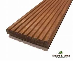 Hardwood Decking – Balau Hardwood Grooved Decking 28 x