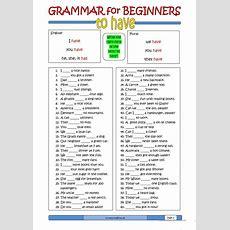 Grammar For Beginners To Have Worksheet  Free Esl Printable Worksheets Made By Teachers