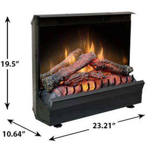 dimplex electric fireplace insert dimplex 23 inch deluxe electric fireplace insert log set