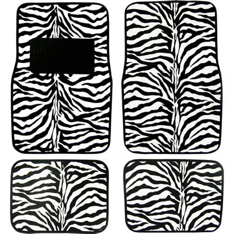 floor mats zebra plasticolor zebra wild skins floor mat set 4pc walmart com