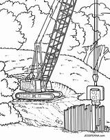 Crane Construction Coloring Drawing Pages Getdrawings Cartoon Order Library Getcolorings sketch template
