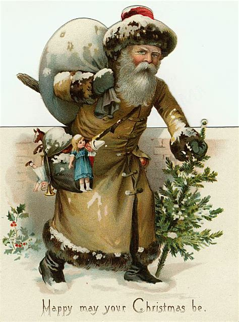 fashioned santa claus clipart