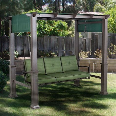 outdoor patio swing with canopy outdoor patio pergola swing replacement canopy garden winds
