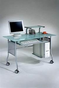 Computertisch Auf Rollen : der computertisch aus glas wirkt sehr schick und elegant ~ Whattoseeinmadrid.com Haus und Dekorationen