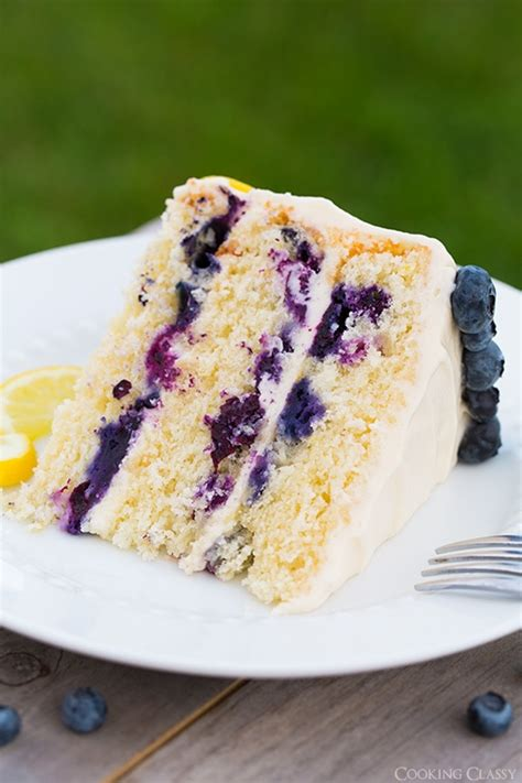 lemon blubberry cake  cream cheese frosting