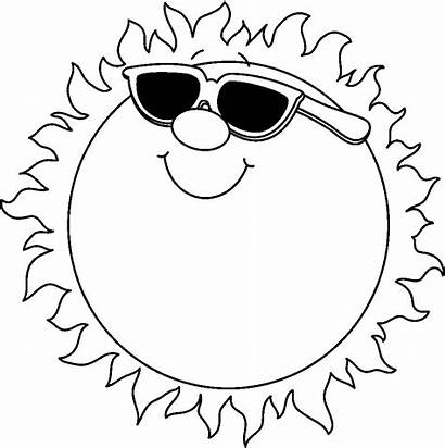 Sun Clipart Outline Summer Clip August Happy