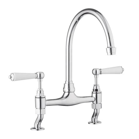 Traditional Kitchen Mixer Tap  Porcelain Levers