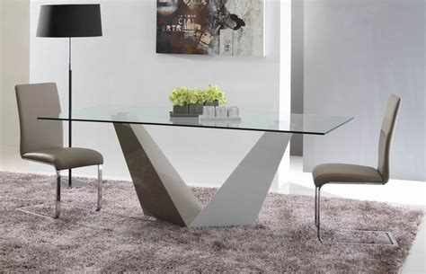 vertex contemporary glass dining table