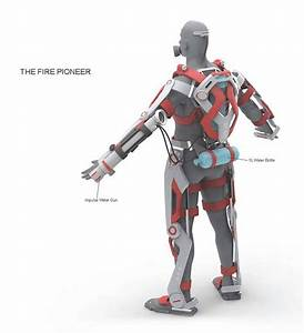 A.F.A. - Powered Exoskeleton Suit for Firefighter by Ken ...