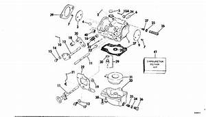 Johnson Carburetor Parts For 1976 70hp 70el76d Outboard Motor