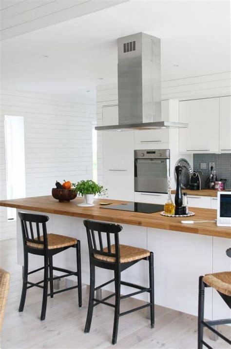 cuisine blanche et cuisine blanche et bois