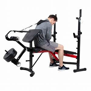 Home Gym System Adjustable Weight Lifting Bench Exercise