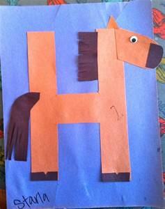 letters kindergarten preschool alphabet craft h horse With horse letter art