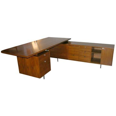 George Nelson L shaped walnut executive desk-Herman Miller ...