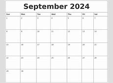 August 2024 Free Calander