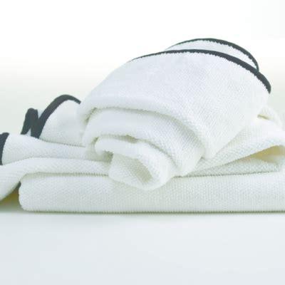 hotel luxury collection white jacquard bath towel  black trim