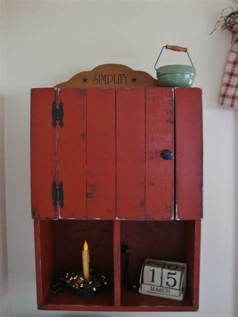 primitive cabinets ideas  pinterest primitive