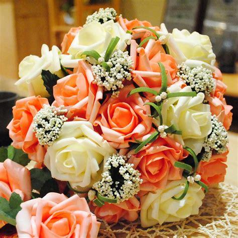 wedding centerpieces bouquet sweetheart rose silk flower