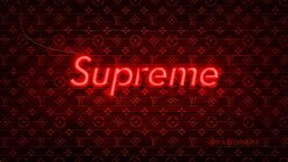 Supreme Vuitton Louis Neon Lv Wallpapers Vlone