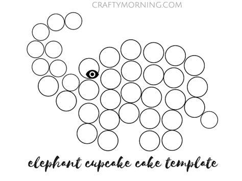pull apart cupcake cake templates how to make an elephant cupcake cake crafty morning