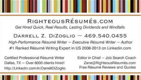Certified Professional Resume Writer Dallas by Resume Sles Righteousr 233 Sum 233 S Call 469 540 0455 Today