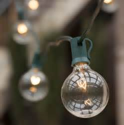 patio lights commercial clear globe string lights 20 g50 e12 bulbs green wire
