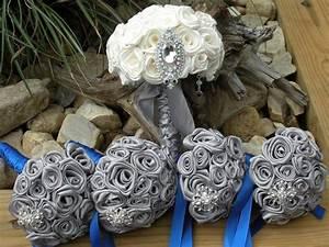 Silver and Royal Blue Wedding Bouquet | Wedding ideas ...